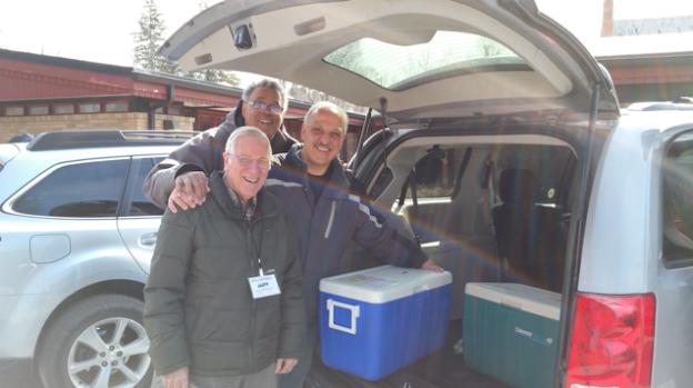 Joe Marrine with Meals on Wheels volunteer drivers.